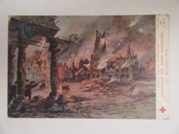 Guerre 14-18 - CPA Croix-Rouge - Association Des Dames Françaises - Arras Sous Les Bombes - Carte Couleur Illustrée - Guerre 1914-18