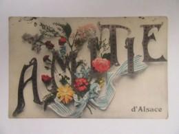 """Guerre 14-18 - CPA """"Amitié D'Alsace"""" Illustrée Et En Couleur - Circulée Le 23 Septembre 1917 - Guerre 1914-18"""
