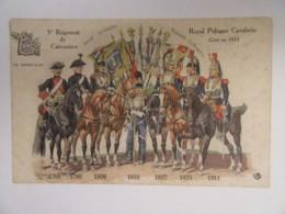 CPA Illustrateur - Royal Pologne Cavalerie - 5e Régiment De Cuirassiers - La Sabretache - Circulée En 1913 - Régiments