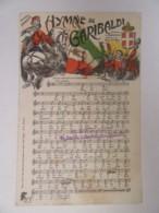 Guerre 14-18 - CPA Patriotique - Hymne De Garibaldi (partition) - A.T. Paris - Carte Couleur Illustrée, Non-circulée - Patriotiques