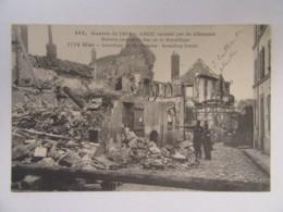 Guerre 14-18 - Creil Incendié Par Les Allemands - Carte Animée, Circulée - Guerre 1914-18