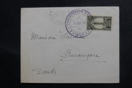 MAROC - Cachet De Vaguemestre D'Étapes De Tamanar Sur Enveloppe En 1930 Pour Besançon - L 48080 - Covers & Documents