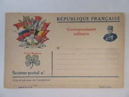 Guerre 14-18 - Correspondance Militaire - Gloire Aux Alliés - Trèfle à 4 Feuilles 1916 - Non-circulée - Marcophilie (Lettres)