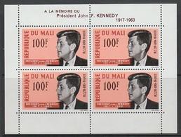 BLOC NEUF DU MALI - A LA MEMOIRE DU PRESIDENT JOHN F. KENNEDY N° Y&T 3 - Kennedy (John F.)