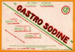 BUVARD - BLOTTING PAPER - GASTRO SODINE - Estomac Intestin - ODINOT Pharmacie 21, Rue Violet Paris - Chemist's