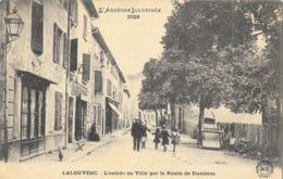 Lalouvesc (La Louvesc, Ardèche) L'Entrée En Ville Par La Route De Dunières, Café Du Bon Coin, Carte M.B. N° 2729 - La Louvesc