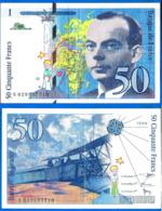 France 50 Francs 1996 Serie S Que Prix + Port Avion Bi Plan Saint Exupery Frcs Frc Paypal  Bitcoin OK - 1992-2000 Ultima Gama