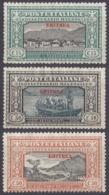ERITREA, COLONIA ITALIANA - 1924 - Lotto Di 3 Valori Nuovi Senza Gomma: Yvert 72/74, Come Da Immagine. - Eritrea