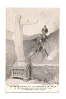 PATRIOTIQUE GUERRE EUROPEENNE 1914 - STE GENEVIEVE ET LE NOUVEL ATTILA - - War 1914-18