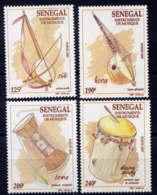 SENEGAL - 1255/1258** - INSTRUMENTS DE MUSIQUE - Senegal (1960-...)