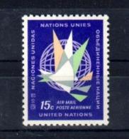 1963 UNO New York: Sc.C11, Mi.131, Yv. A13, ** MNH, AIRMAIL, ABO-Qualität!!, S. Scan - Neufs