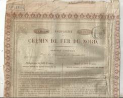 JC , Obligation De 500 Francs , Compagnie Du Chemin De Fer Du NORD ,1866 , Paris , 2 Scans ,frais Fr 1.95 E - Sonstige