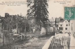 CHATILLON SUR SEINE - DEGATS CAUSES PAR LES INONDATIONS DE JANVIER 1910 - LE PERTUIS AU LOUP DEVASTE - PETITE ANIMATION - Chatillon Sur Seine