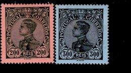 Por.164 - 165 König Manuel II MLH * Falz - 1910 : D.Manuel II