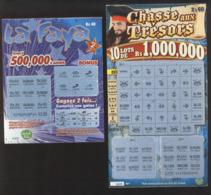 2 Tickets à Gratter De L'ILE MAURICE - Interdits De Vente Depuis 01-07-2015 - Billets De Loterie