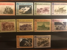 Poland 1968 PAINTINGS.Polish Army.World War II. Mi 1872-1881 - 1944-.... Republic