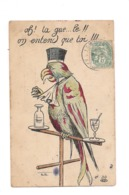 PERROQUET AVOCAT  ET ABSINTHE - CPA ILLUSTREE Ph.Ns; - Oiseaux