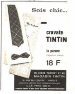 """PUB  """"  CRAVATE   """"  """"  TINTIN  """"   1963 ( 1a ) - Livres, BD, Revues"""