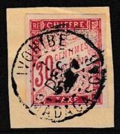 Taxe N°22 30c. Rouge Obl. IVOHIBE  MADAGASCAR Sur Fragment - Postage Due