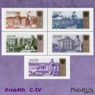 RUSSIA 2002 (2007) Mi.1045-1049-CIV #rus4th Definitive Palaces & Sculptures / Set, 5v (MNH **) S/a - 1992-.... Federazione