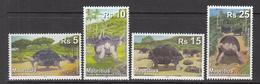 2009 Mauritius Extinct Giant Tortoise Reptile  Complete Set Of 4 MNH - Mauritius (1968-...)