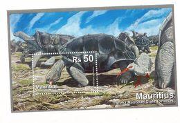 2009 Mauritius Giant Tortoise Souvenir Sheet MNH - Schildkröten