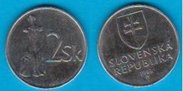 Slowakei 2 Koruny E, N Jahrgang 1993  Schön Nr.16 KM 13 (D2/42) - Slowakei