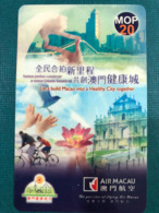 MACAU-CTM 2008 EASY CALL TELEPHONE CARD, (AIR MACAU SPONSER) - Macao