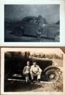 2 Photos Originales Aux États-Unis Voitures & Passagers à Identifier Vers 1920 Et 1940 - Automobiles