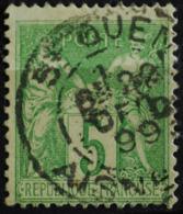 -Sage N°106 Type Ll. O (.CAD) ST QUENTIN 22 DEC 1899. - 1876-1898 Sage (Type II)