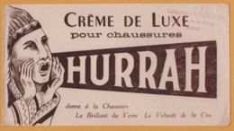 BUVARD Illustré - BLOTTING PAPER - HURRAH Crème De Luxe - Chaussures - Indien - Cordonnerie PONTHIEUX Douai - Zapatos
