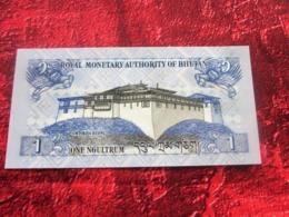 BHUTAN Bhoutan ROYAL MONETARY 1 ONE NGULTRUM Billet De Banque NEUF:NOTE BANK - Bhutan