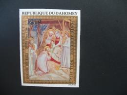 Timbre ND Non Dentelé Neuf ** MNH - Imperf  Tableaux  Peintre Religieux   Dahomey N° PA 177 - Religion