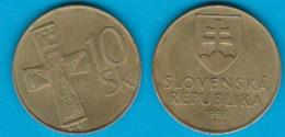 Slowakei 10 Korun Al-N-Bro Jahrgang 1993  Schön Nr.18 KM 11 (D3/46) - Slowakei
