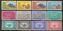 Kenya Uganda Tanganyika 1963/5 Hunger, ITU And Co-operation 3 Complete Sets MNH ** - Kenya, Uganda & Tanganyika