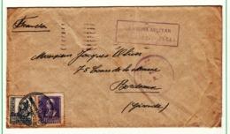 Espagne     Enveloppe  1939  Vers La France  Censure  Cachet   Hospital De Campana - Republikeinse Censuur