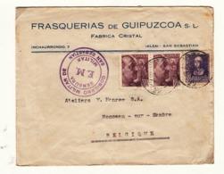 Espagne     Enveloppe  1939  Vers La France  Censure  Cachet   FM - Bolli Di Censura Repubblicana