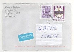 Beaux Timbres  Sur Lettre , Enveloppe , Mail , Cover Du 21/07/2017  Pour La France - Hongrie