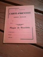 Carte D Identité De Citoyen Français, Vichy, Pétain, Résistance, Bicyclette, Béziers, Hérault - 1939-45