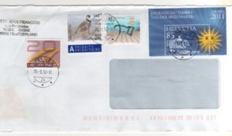 Beaux Timbres  Sur Lettre , Enveloppe , Mail , Cover Du 21/03/2012 - Suiza