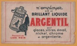 BUVARD Illustré - BLOTTING PAPER - Brillant Liquide ARGENTIL - Produit Du Lion Noir - LA PHOTOLITH L. DELAPORTE Paris - Produits Ménagers