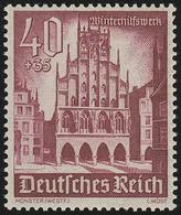 759 Winterhilfswerk Bauwerke 40+35 Pf ** - Germania