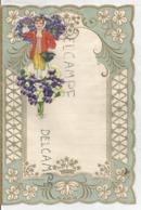Superbe Papier à Lettre. Décor Garçon Et Bouquet De Pensées. - Vieux Papiers