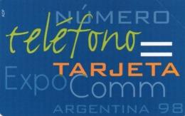 URMET PATENT - ARGENTINA - TEST - EXPOCOMM ARGENTINA 98 - MINT - Argentina