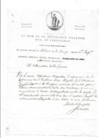 Lettre REPUBLIQUE CISALPINE MILAN AN 6  Belle Vignette - Documents Historiques