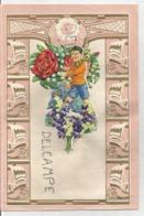 Superbe Papier à Lettre. Décor Garçon En écharpe Bouquet De Roses Et Muguets. - Vieux Papiers