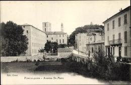 Cp Forcalquier Alpes De Haute Provence, Avenue Saint Marc - France