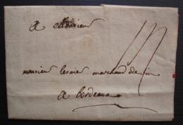 Vitré 1771 Marque Vitré Sur Lettre Du Procureur Des Augustins Pour Un Marchand De Vins De Bordeaux - 1701-1800: Precursors XVIII