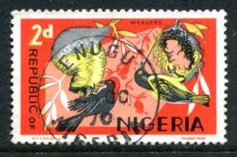 Nigeria 1969-72 Wildlife - Printers Imprint - 2d Weaver Birds Used (SG 222) - Nigeria (1961-...)