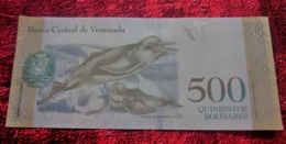 """BANCO CENTRAL DE Venezuela 500 QUINIENTOS BOLIVARES REPÚBLICA BOLIVARIANA DE VENEZUELA""""Billet De Banque NEUF:NOTE BANK - Venezuela"""